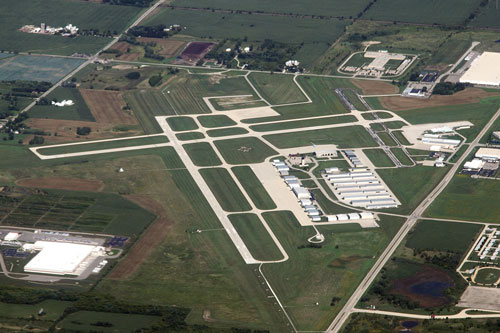 Kenosha Regional Airport Aerial Photo